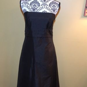 Jenny Yoo black strapless silk dress.  Size 8